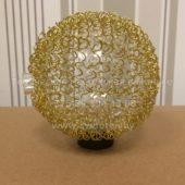 Плафон шарик G4 (золотая металлическая сетка сверху) Диаметр 80 мм