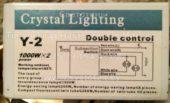 Блок управления CRYSTAL LIGHTING Y-2