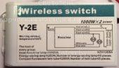 Блок управления Y-2E 01 (Wireless switch)
