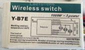 Блок управления Y-B7E (Wireless switch)