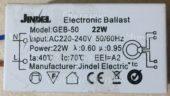 ЭПРА JINDEL GEB-50 22W (Electronic ballast)