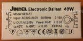 ЭПРА JINDEL GEB-51 40W (Electronic ballast)