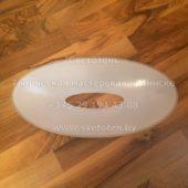 Верхнее стекло (плафон) к торшеру (432x222x60 мм) с отверстием (168x47 мм)