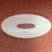 Верхнее стекло (плафон) к торшеру (417x222x60 мм) с отверстием (168x47 мм)
