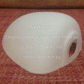 Стекло (плафон) к боковой (нижней) лампе к торшеру (118x90x50 мм) с отверстием (диаметр 22 мм)
