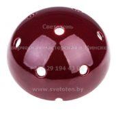 Потолочная чашка полусфера керамическая цветная бордовая на 7 отверстий