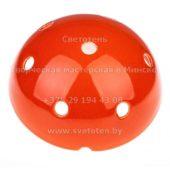 Потолочная чашка полусфера керамическая цветная красная на 7 отверстий