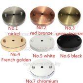 Потолочная чашка круглая металлическая цветная с декоративными гайками на 1 отверстие