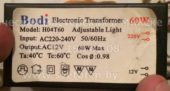 Трансформатор BODI H04T60 60W (Electronic transformer)