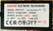 Трансформатор EUROSVET H06T105 105W (Electronic transformer)