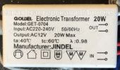 Трансформатор GOLDEL GET-0704 20W (Electronic transformer)