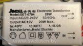 Трансформатор JINDEL GET-0704 20W 02 (Electronic transformer)