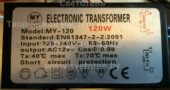 Трансформатор MY LIGHT MY-120 120W (Electronic transformer)