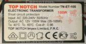 Трансформатор TOP NOTCH TN-ET-105 35-105W (Electronic transformer)