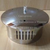 Потолочная чашка большая металлическая на 1 отверстие и 3 тросика (хром) (153×90 мм)