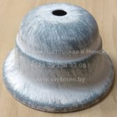 Потолочная чашка для люстры конусная металлическая (античная белая) (90×50 мм)
