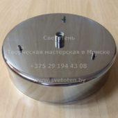 Потолочная чашка круглая на 1 отверстие и 3 тросика (хром) (150×35 мм)