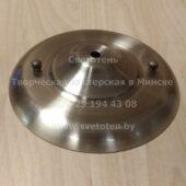 Потолочная чашка полукруглая металлическая на 1 отверстие (бронзовая) (180×15 мм)