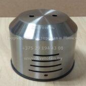 Потолочная чашка большая металлическая на 2 отверстия (никель) (120×93 мм)