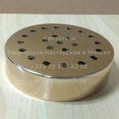 Потолочная чашка большая металлическая на 23 отверстия (золотая) (181×40 мм)