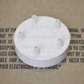Потолочная чашка круглая на 5 отверстий (белая)