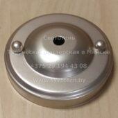 Потолочная чашка круглая на 1 отверстие (серая) (105×20 мм)