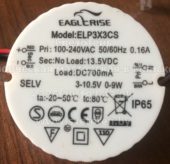 EAGLERISE ELP3X3CS 700mA (Led power supply)