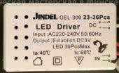 Лед драйвер JINDEL GEL-300 23-36 (Led driver)