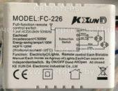 Блок управления KE XUN DA FC-226 (Full-function remote control switch)