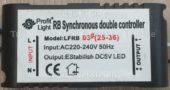 Лед контроллер PROFIT LIGHT LFRB03 25-36 (Rb synchronous double led controller)